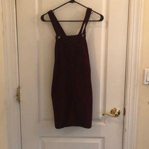 TOPSHOP corduroy dress